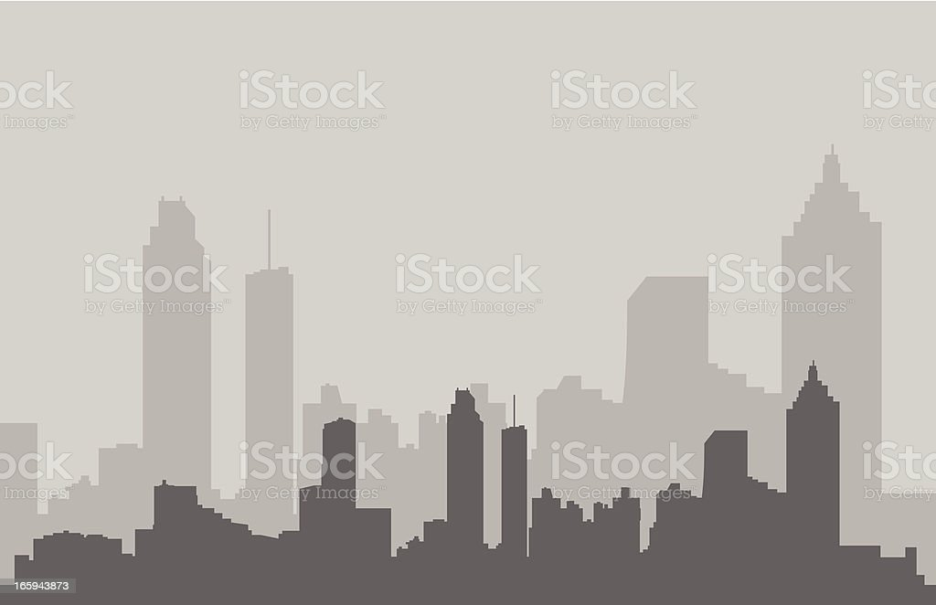 Atlanta Skyline in Gray vector art illustration