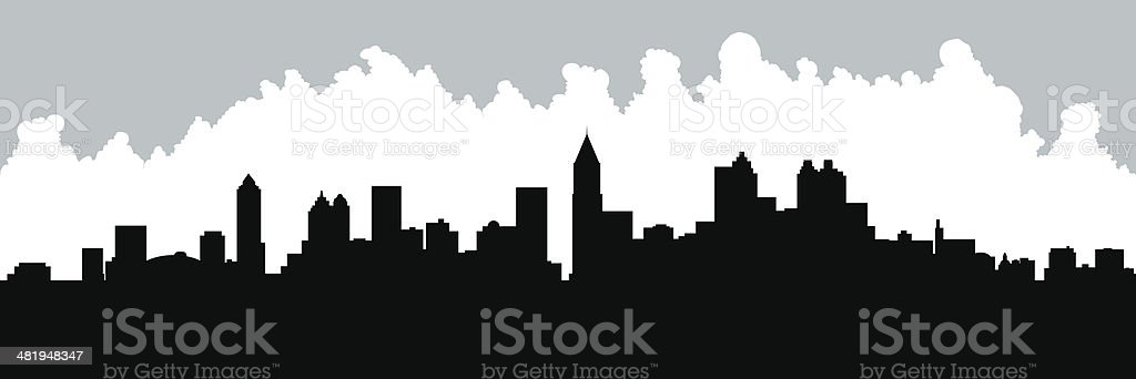 Atlanta Skyline Silhouette vector art illustration
