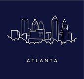 Atlanta Skyline Sketch