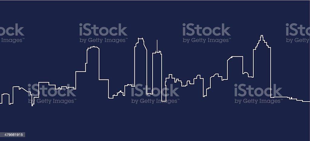Atlanta Skyline royalty-free stock vector art