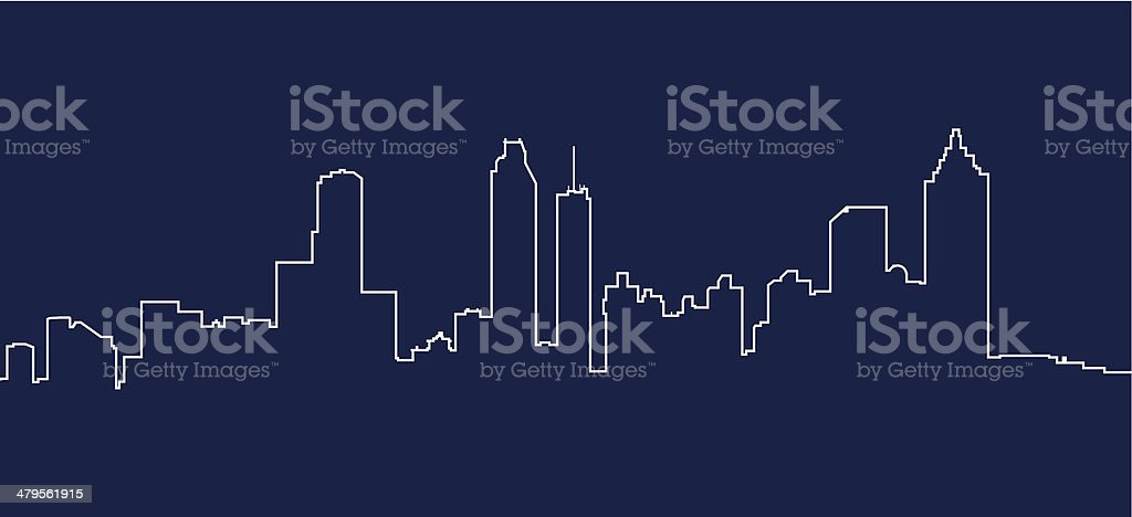 Atlanta Skyline vector art illustration