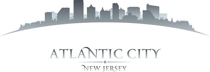 Atlantic city New Jersey city skyline silhouette