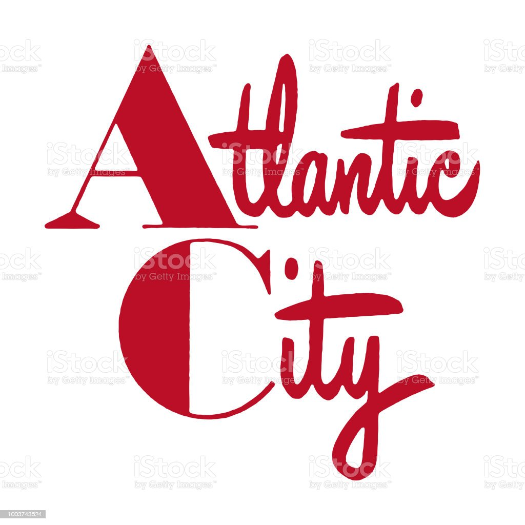 Atlantic City vector art illustration