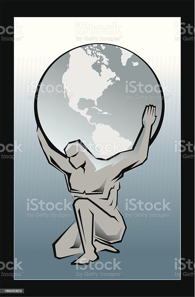 atlas - VECTOR vector art illustration