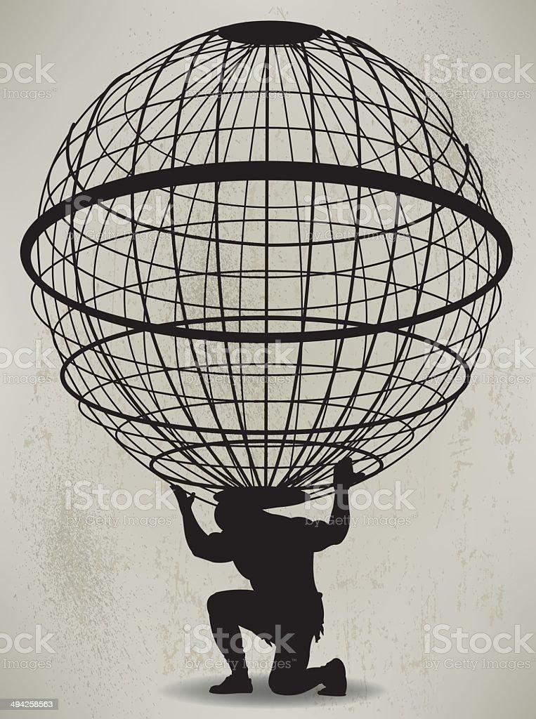 Atlas - Weight of World vector art illustration