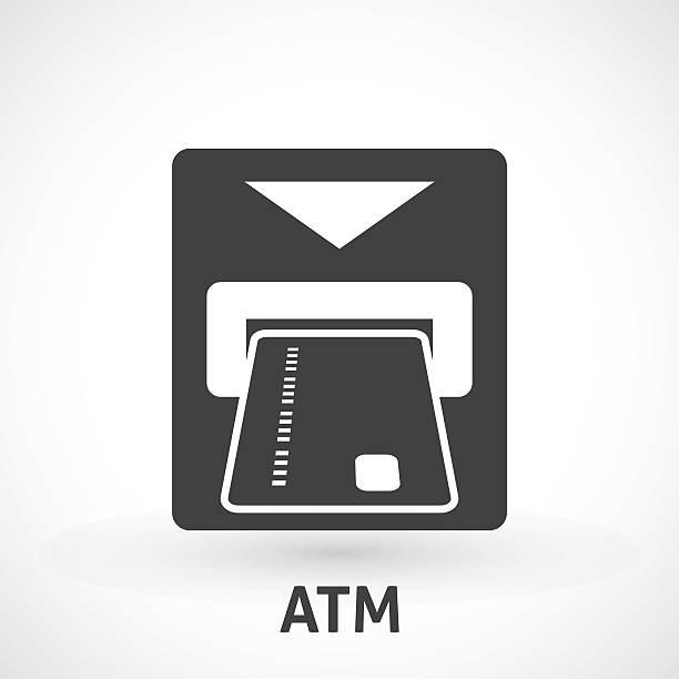 Atm card slot icon向量藝術插圖