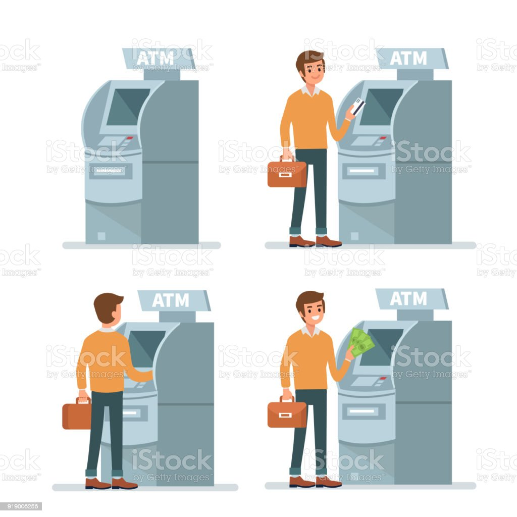 atm vector art illustration