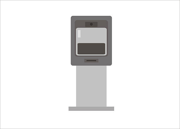 illustrazioni stock, clip art, cartoni animati e icone di tendenza di atm/automatic teller machine/ticket machine simple illustration - biglietteria automatica