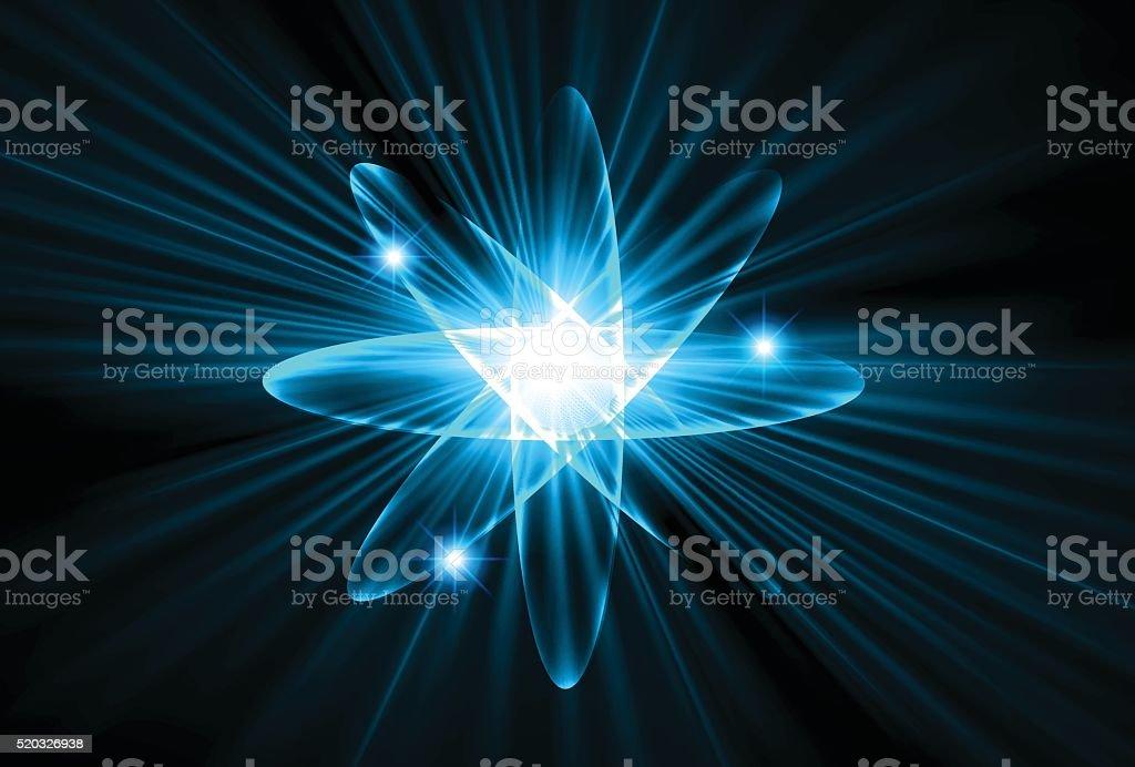アトム 青色光のテクノロジーの背景 つながりのベクターアート素材や