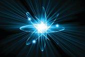 atom blue Light Technology background
