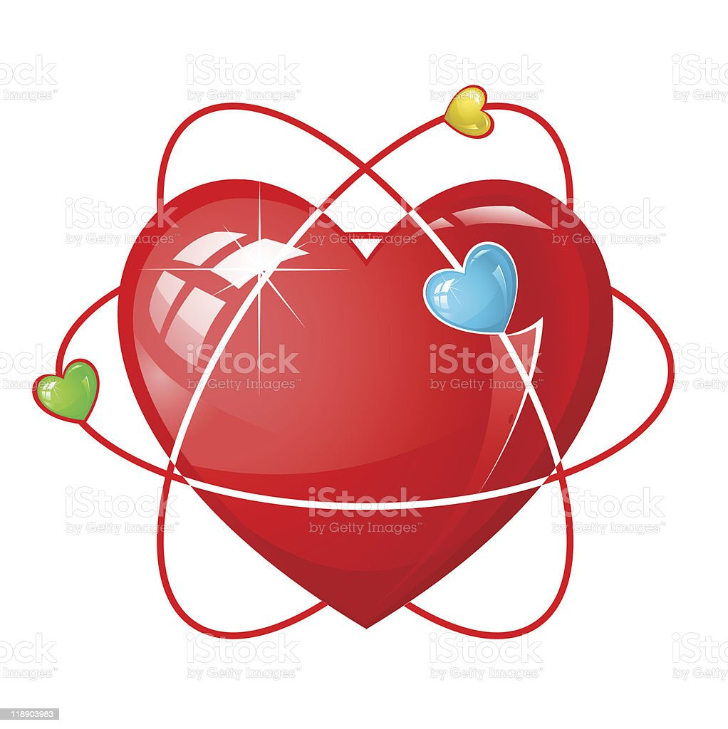 atom heart royalty-free stock vector art