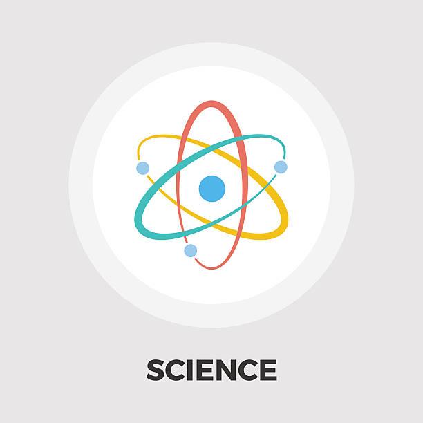 Atom icon flat Atom icon vector. Flat icon isolated on the white background. Editable EPS file. Vector illustration. atom stock illustrations
