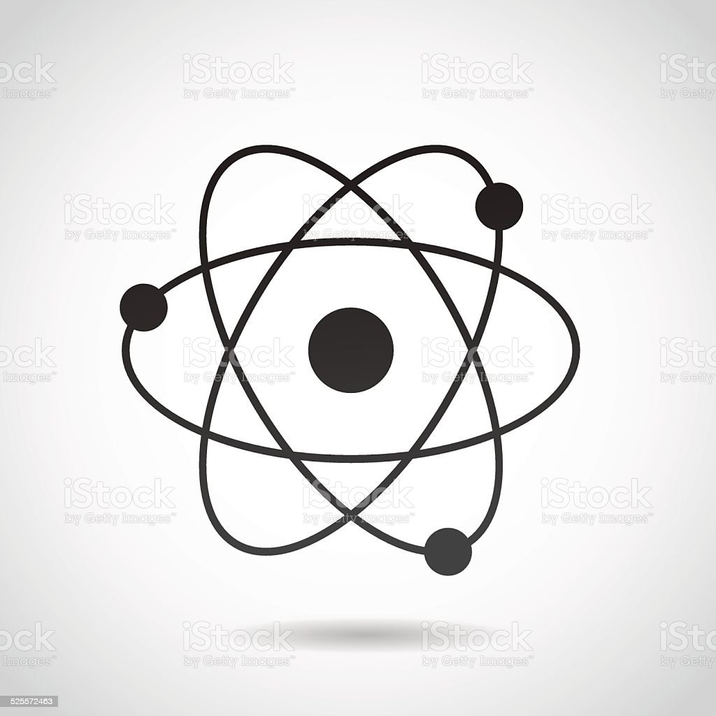 Atom icon isolated on white background. vector art illustration