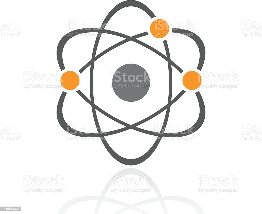 Atom icon on a white background. vector art illustration