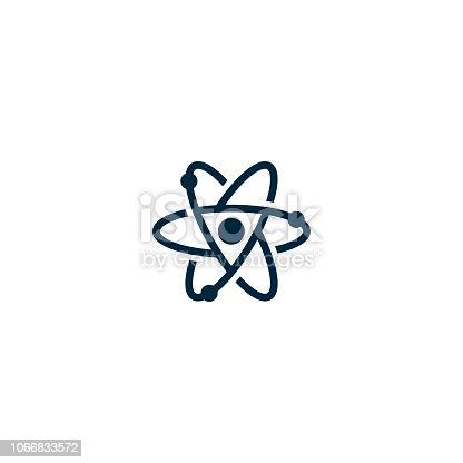 Atom icon or logo vector design template