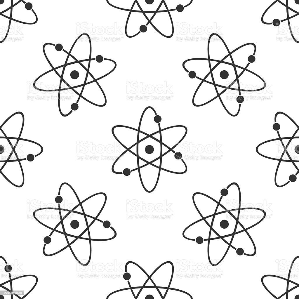 Atom icon pattern vector art illustration