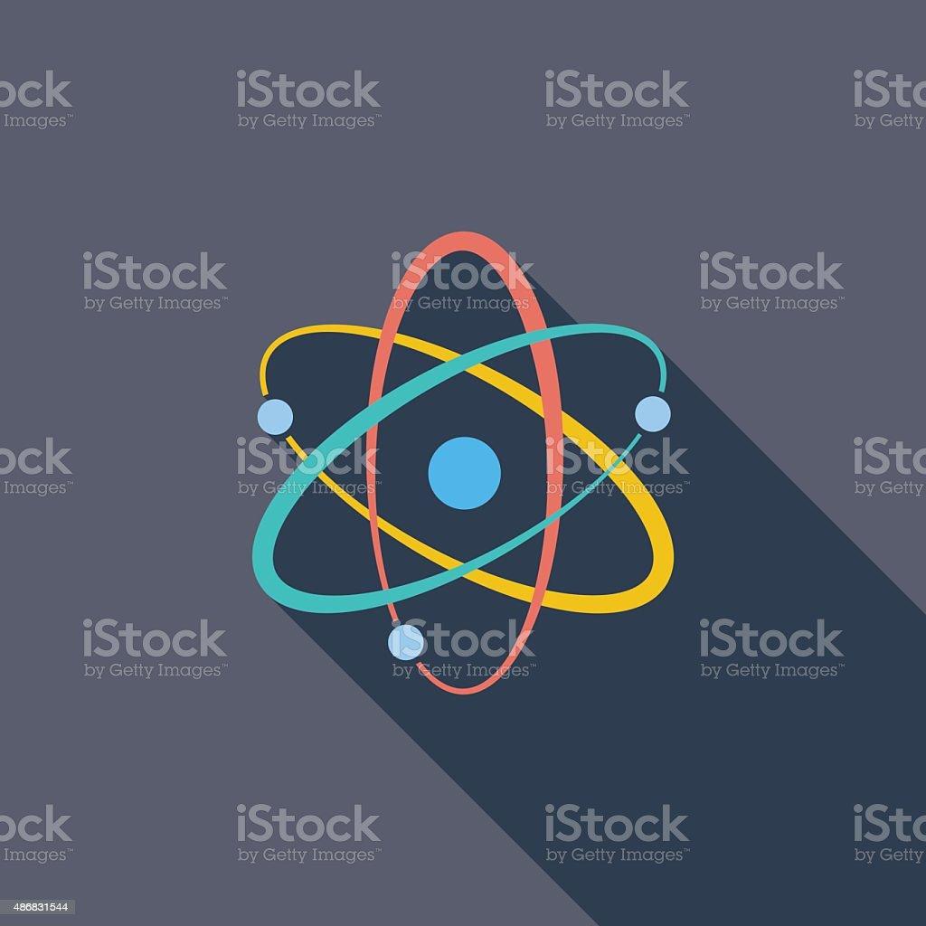Atom icon vector art illustration