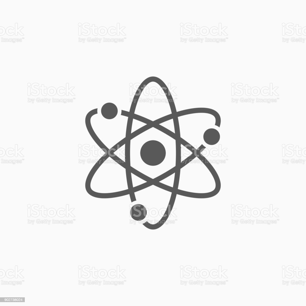 atom icon vector art illustration