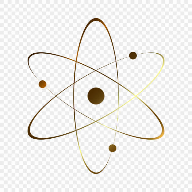 Royalty Free Gold Atomic Symbol Clip Art Vector Images