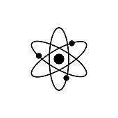 istock Atom molecule vector icon 1132090957