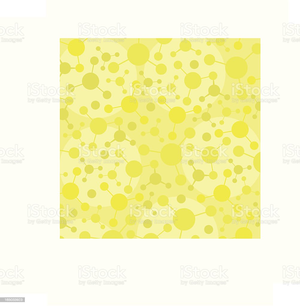 Atom Pattern Green royalty-free stock vector art