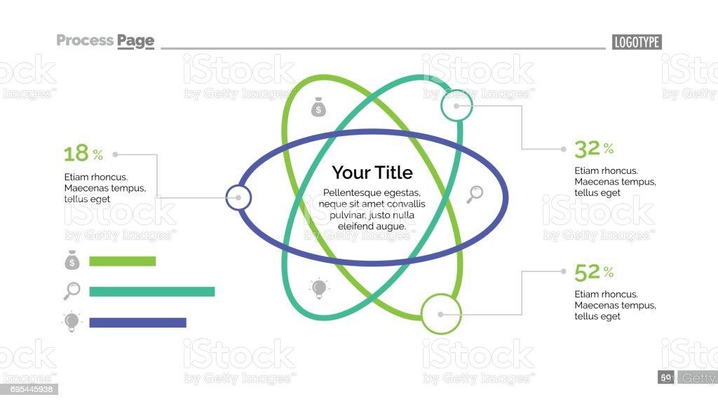 Atom Percentage Chart Slide Template vector art illustration