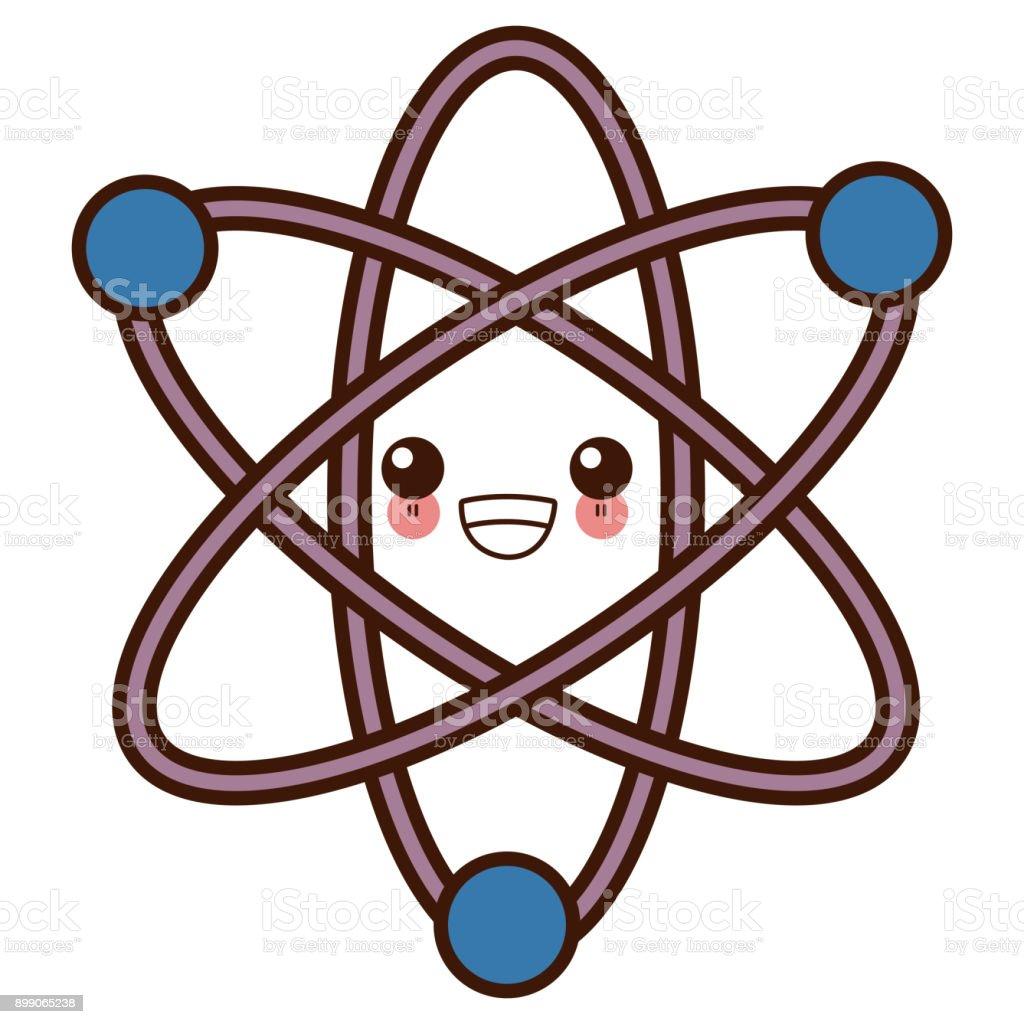Ilustracion De Dibujos Animados De Kawaii De Los Simbolo De La Ciencia Del Atomo Y Mas Vectores Libres De Derechos De Adn Istock
