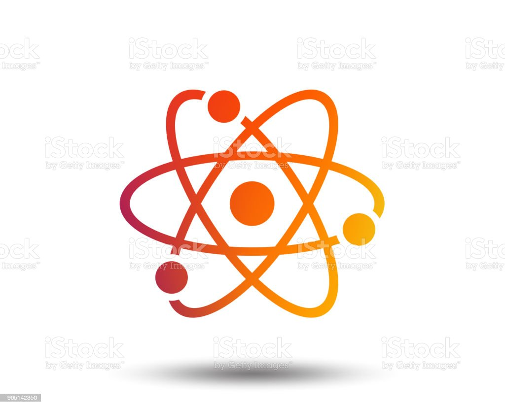Atom sign icon. Atom part symbol. royalty-free atom sign icon atom part symbol stock vector art & more images of art