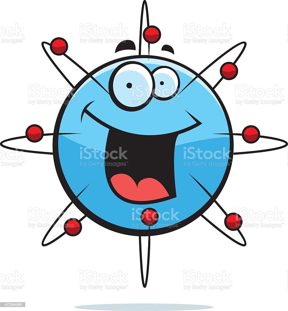 Atom Smiling vector art illustration
