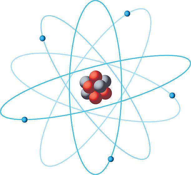 Atom structure diagram Atom diagram and subatomic particles, vector illustration. atom stock illustrations