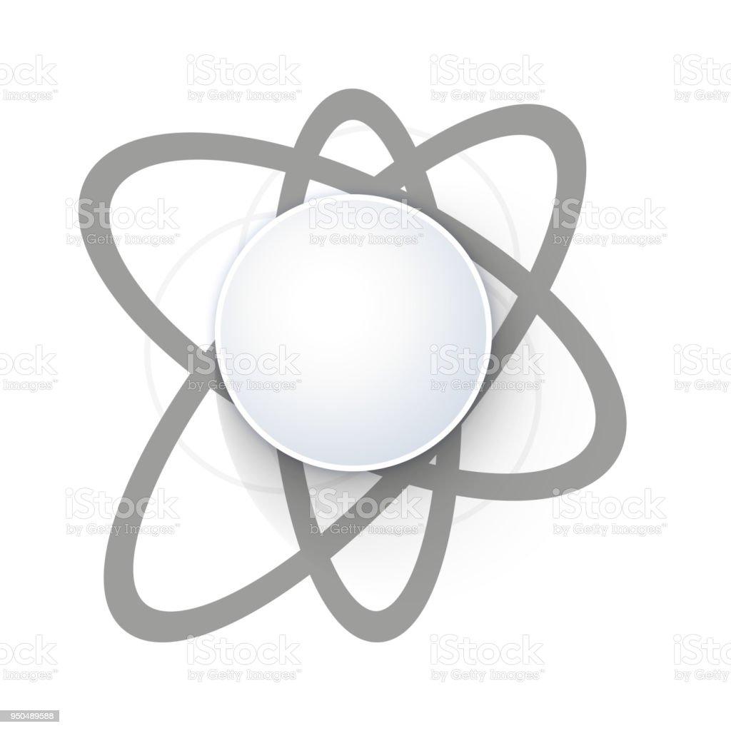 Ilustración De Icono Del átomo Estructura Aislado En