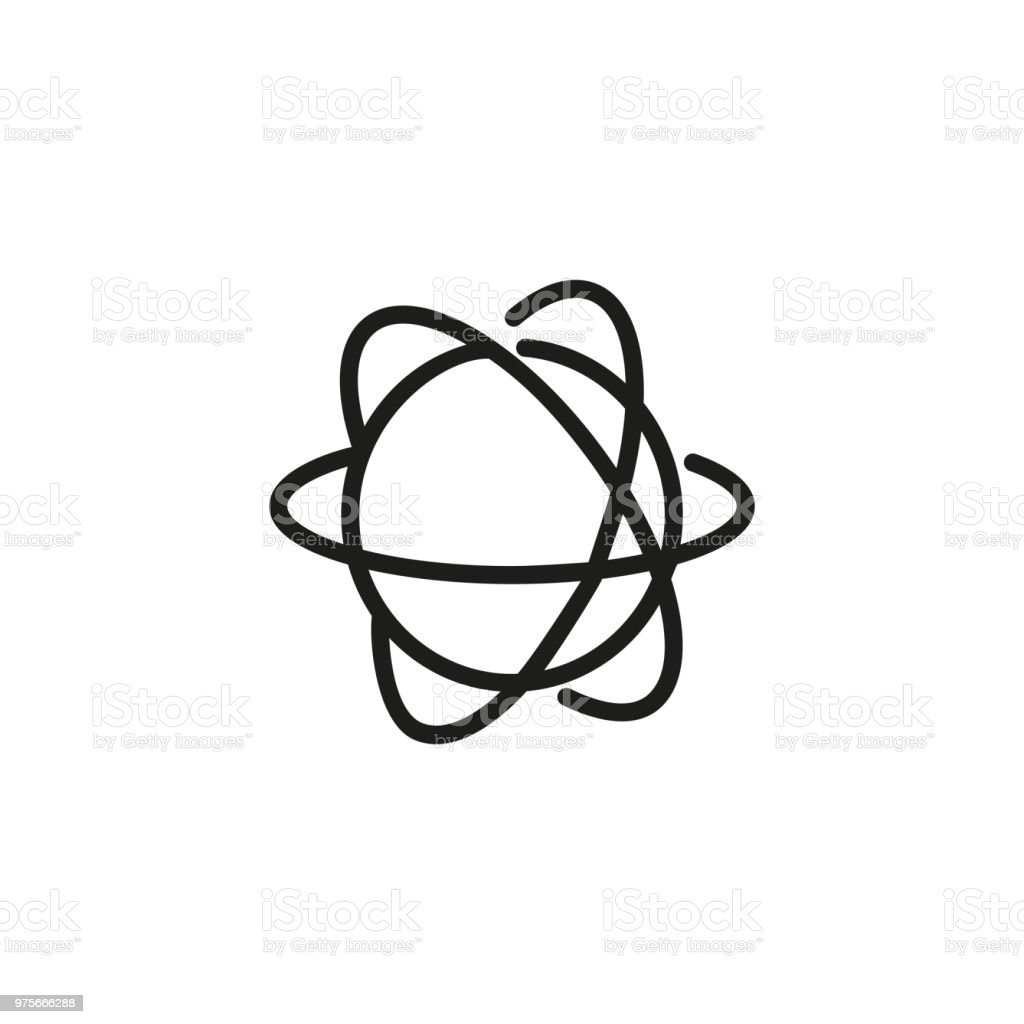 Atom structure line icon stock vector art more images of apple atom structure line icon royalty free atom structure line icon stock vector art amp ccuart Images
