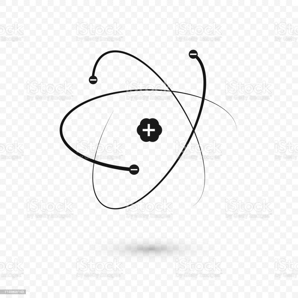 Vetores De Núcleo E Elétrons Da Estrutura Do átomo ícone Do