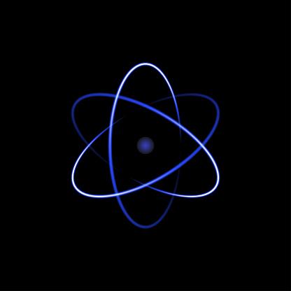 Atom symbol, abstract vector