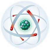 Atom With Nucleus And Electrons
