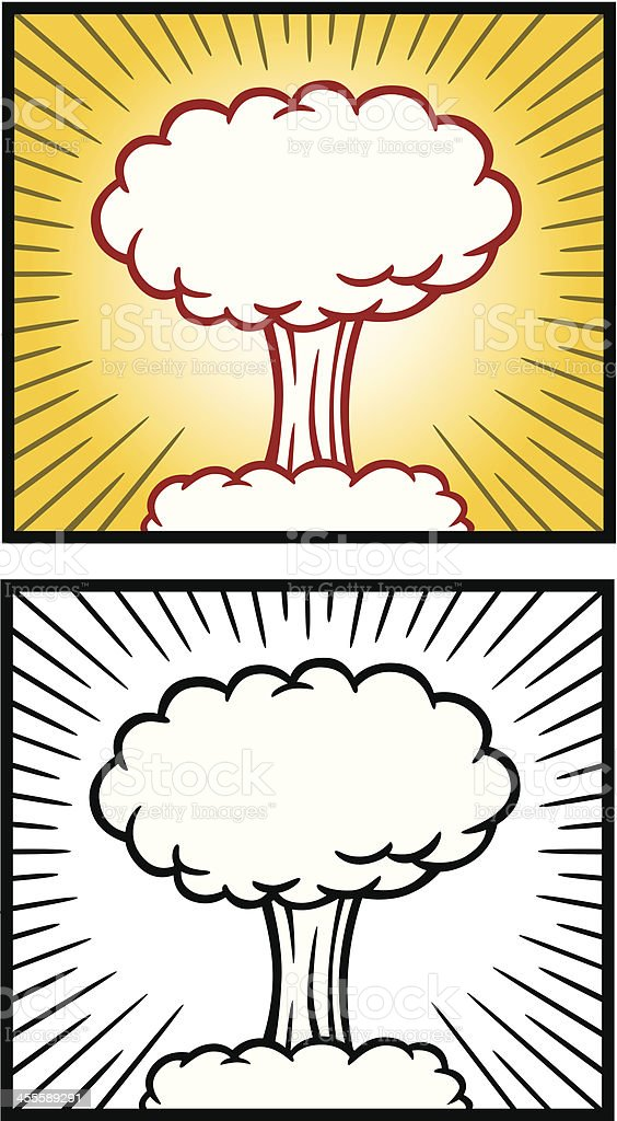 Atomic Bomb Cloud royalty-free stock vector art