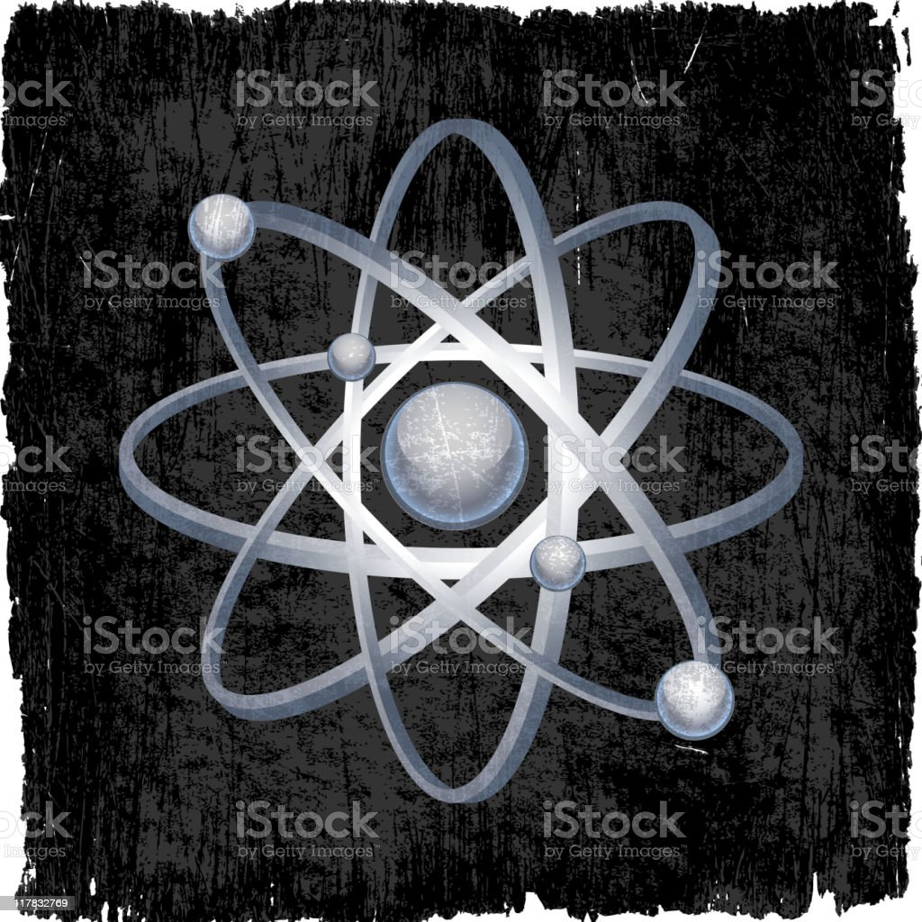 atomic energy symbol on royalty free vector Background royalty-free stock vector art