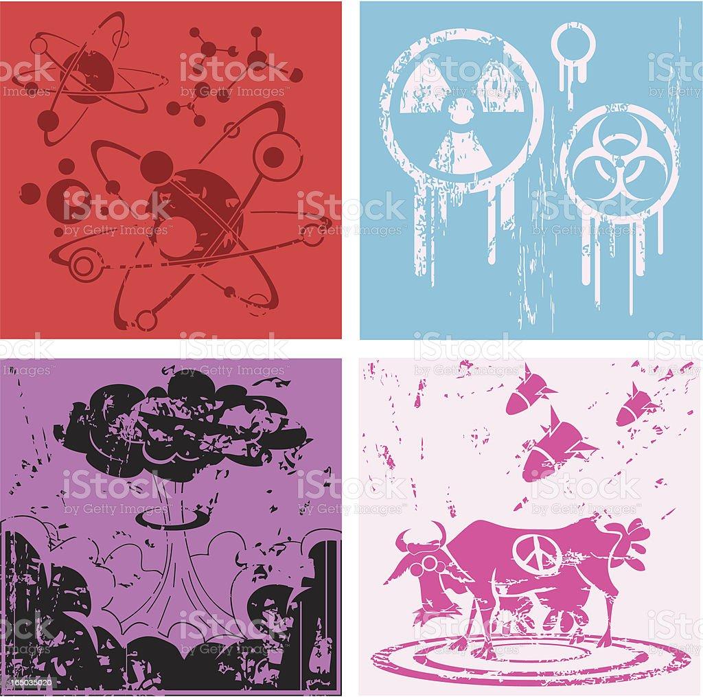 Atomic Evolution royalty-free stock vector art