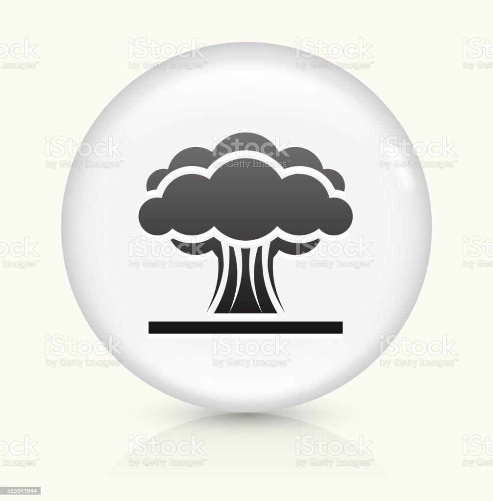 Atomic Explosion icon on white round vector button