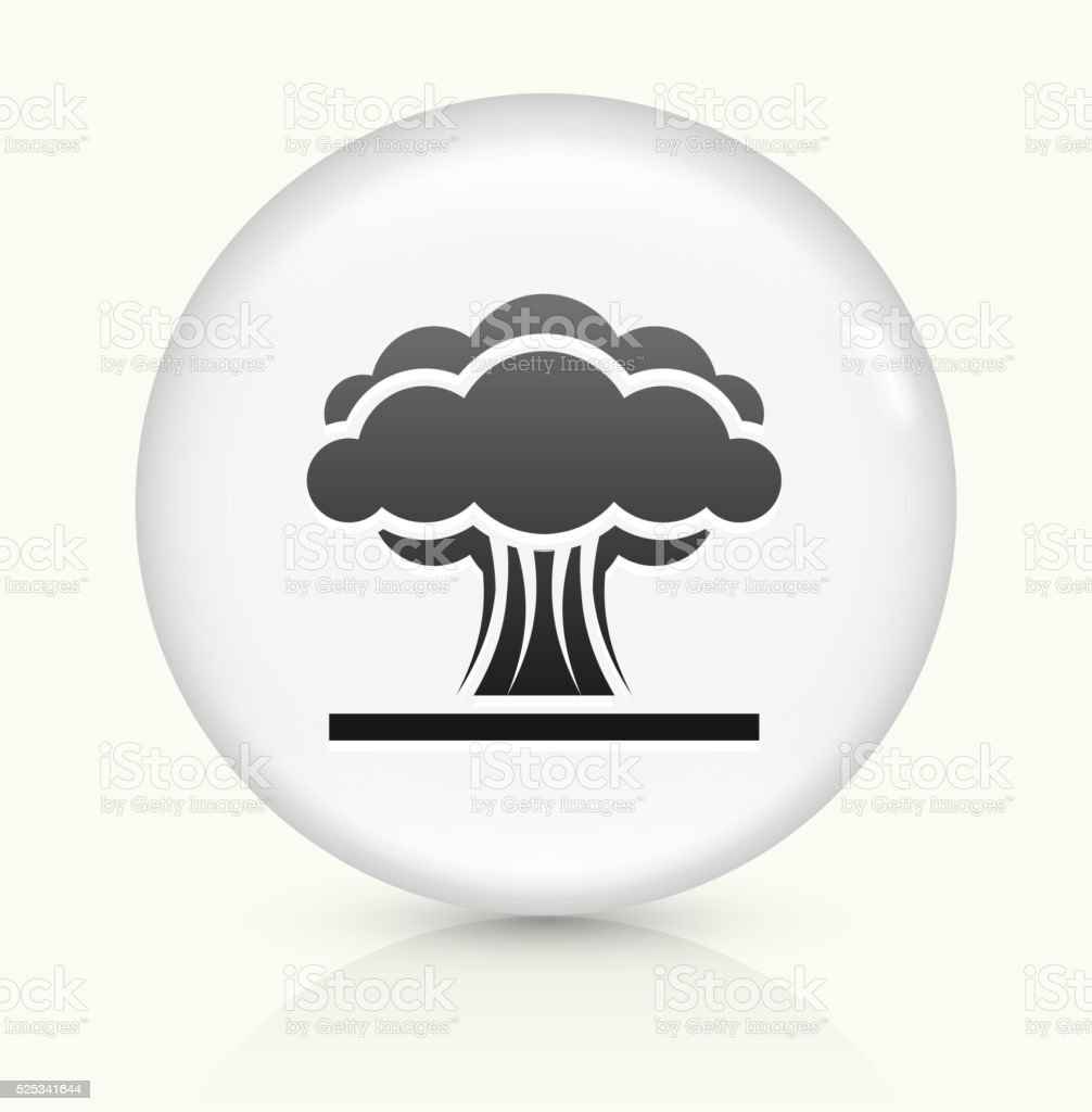 Atomic Explosion icon on white round vector button vector art illustration