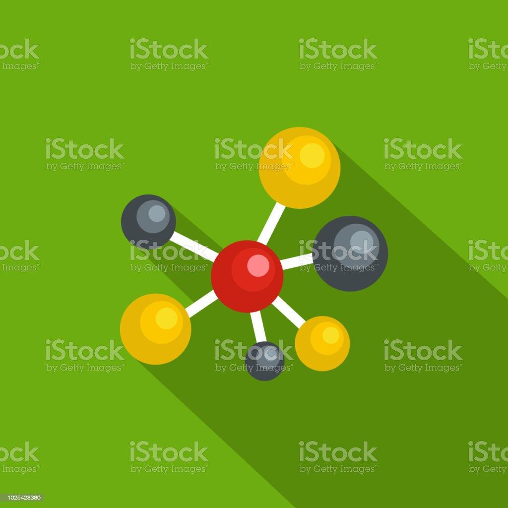 Atomic lattice icon, flat style vector art illustration