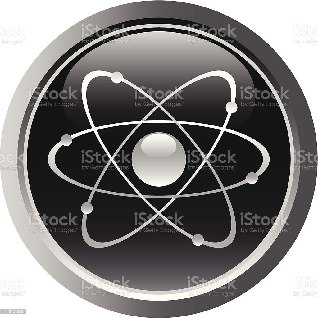 Atomic symbol , button royalty-free atomic symbol button stock vector art & more images of atom