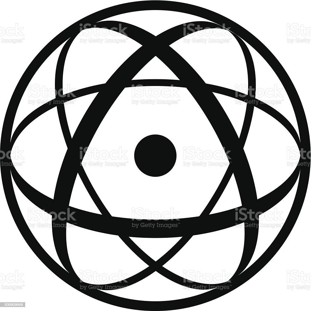 Atomic Symbol royalty-free stock vector art