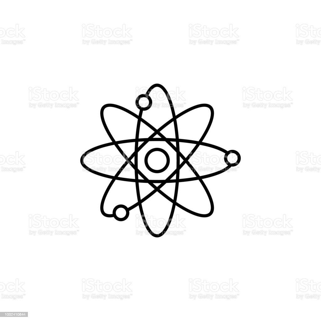 Ilustración De átomos Elemento De Icono De La Educación Para Aplicaciones Web Y Concepto átomos De La Delgada Línea Que Pueden Utilizarse Para Web Y