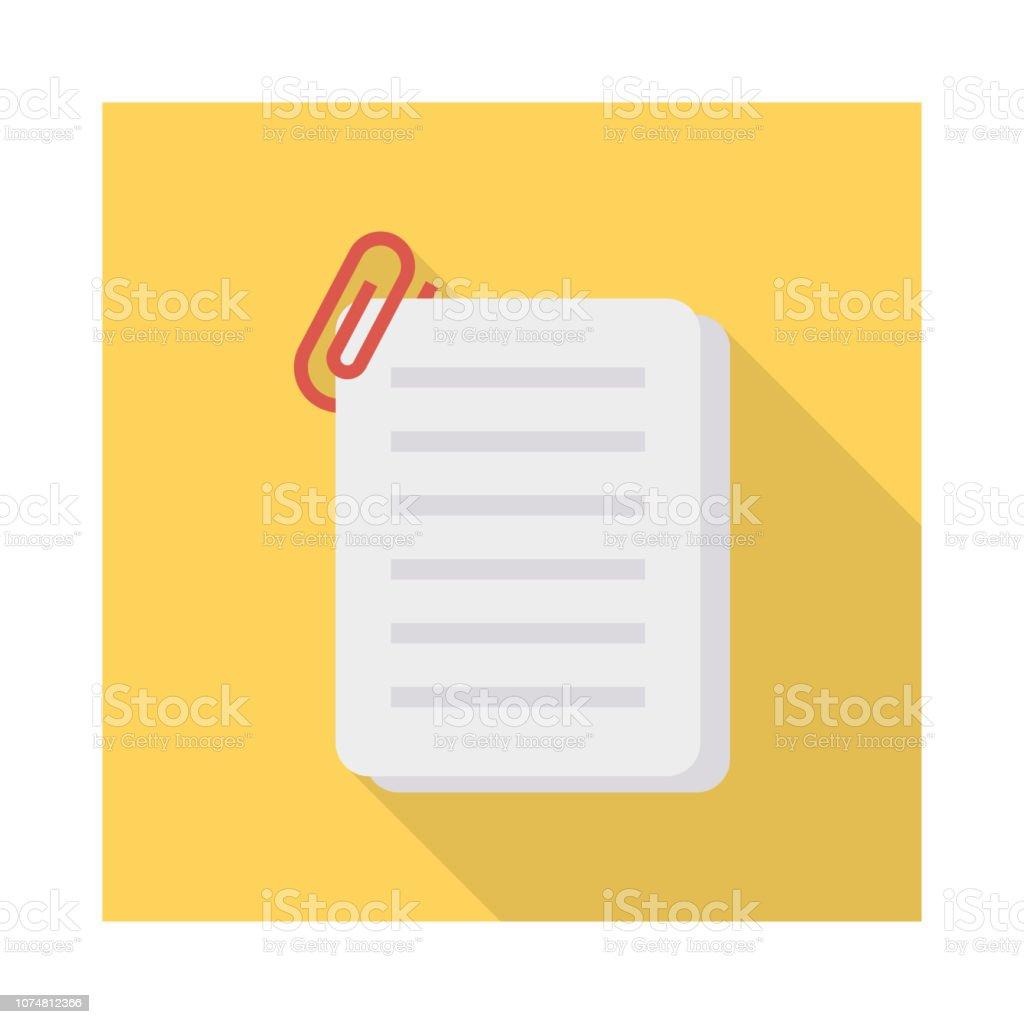 joindre des fichiers document - Illustration vectorielle