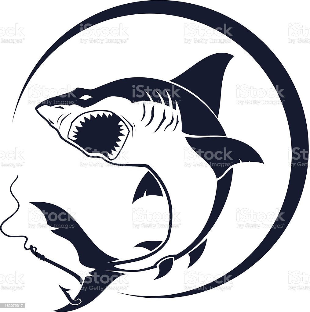 Attacking shark royalty-free attacking shark stock vector art & more images of aggression