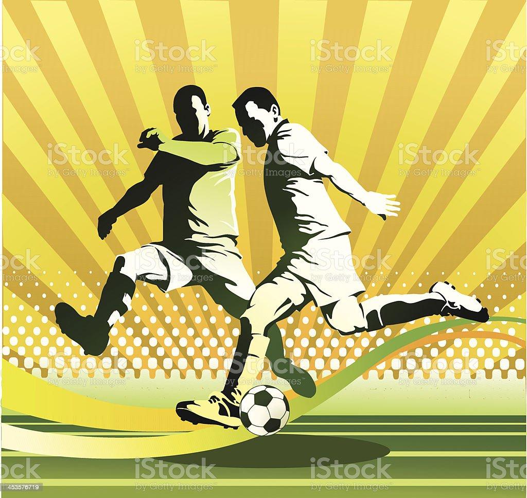 Attacking Soccer Player V Defender royalty-free attacking soccer player v defender stock vector art & more images of activity
