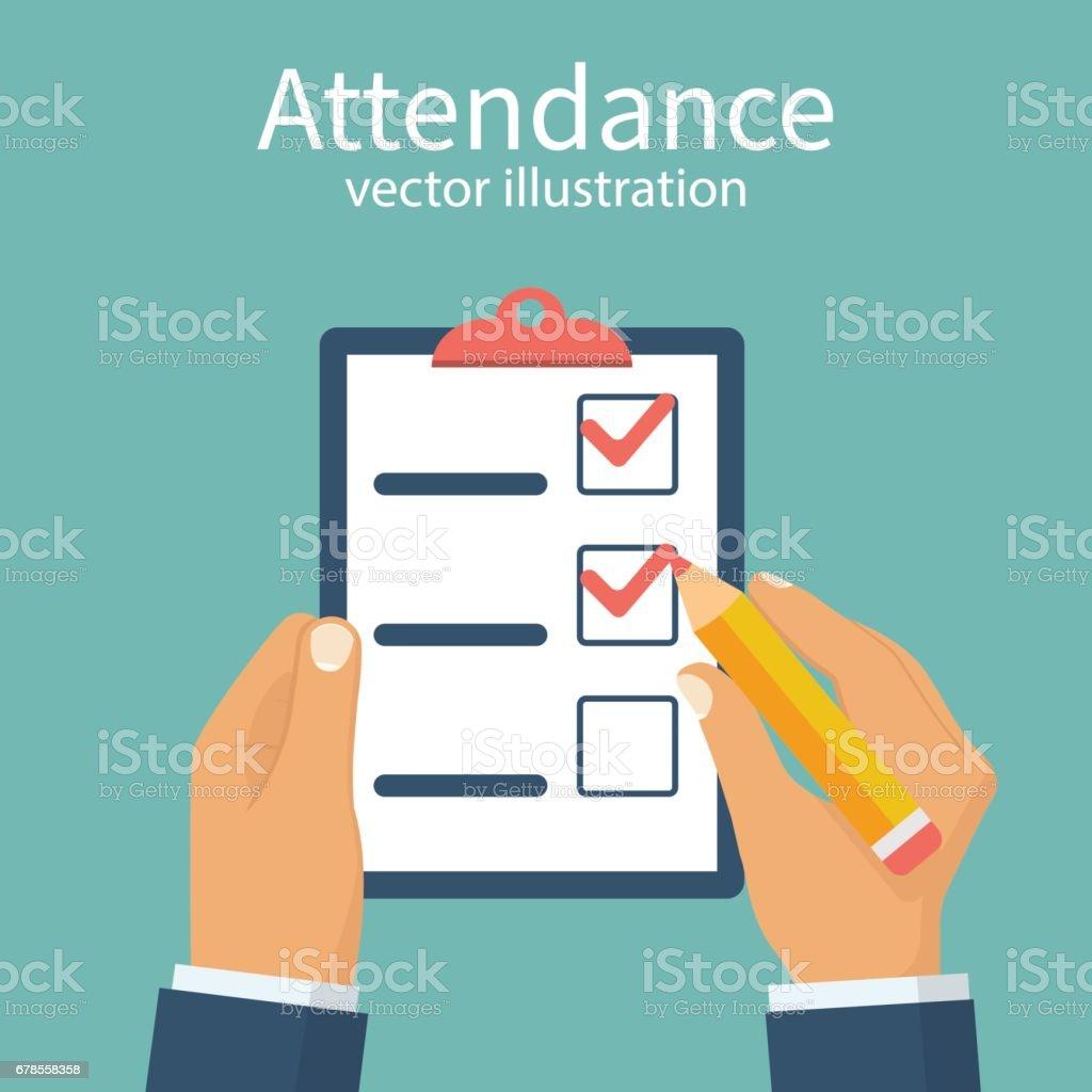Attendance concept vector vector art illustration