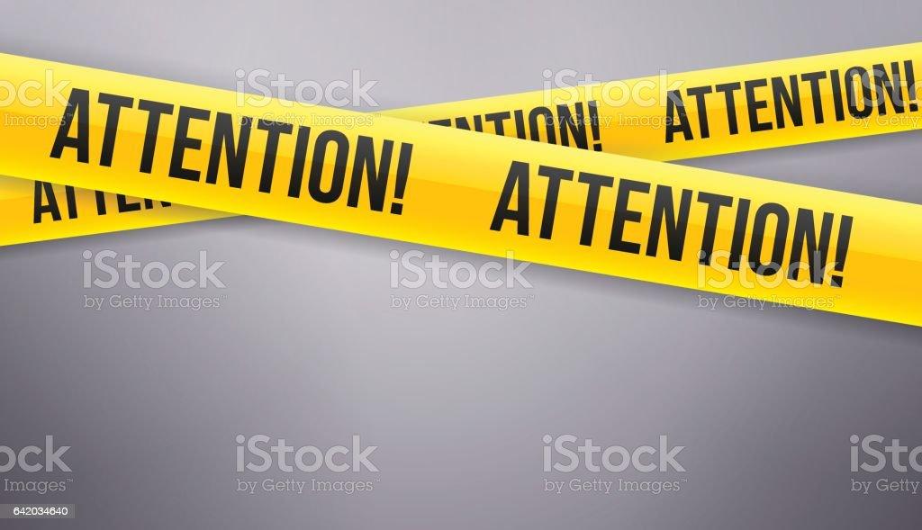 Attention Caution Tape vector art illustration