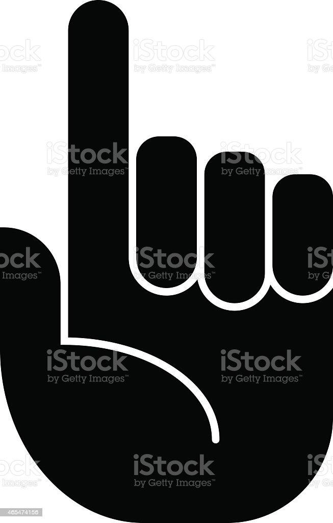 Attention finger icon vector art illustration